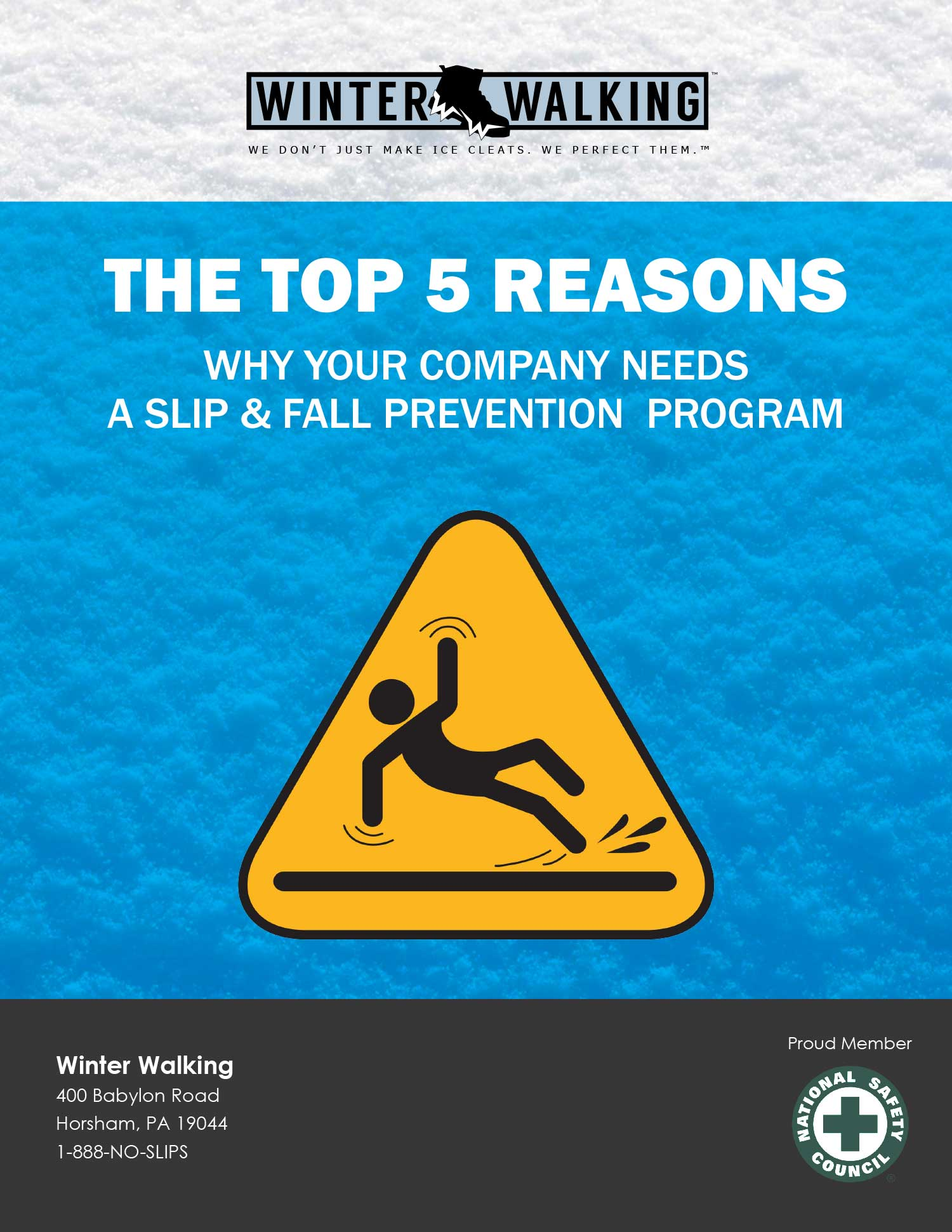 The top 5 reasons why you company needs a slip and fall prevention program